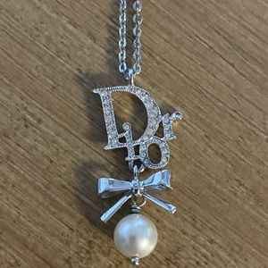 Dior necklace with Dior charm